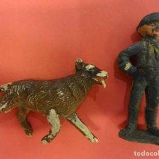Figuras de Goma y PVC: JECSAN. SERE RIN-TIN-TIN. (1957) DOS FIGURAS GOMA. Lote 134095898