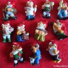 Figuras Kinder: KINDER FERRERO LOTE DE 11 FIGURAS ENANOS ENANITOS AÑOS 90. Lote 134101230