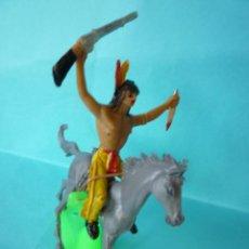 Figuras de Goma y PVC: FIGURAS COMANSI INDIO A CABALLO. Lote 134166286