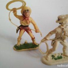 Figuras de Goma y PVC: FIGURAS COWBOY CON LAZO. Lote 134185138
