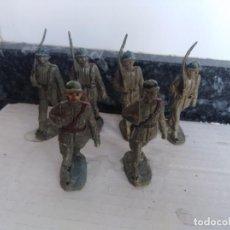 Figuras de Goma y PVC: DESFILE MILITAR SOLDADOS LEGIÓN MILITARES JECSAN PECH GOMA. Lote 134387406