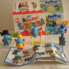 Figuras Kinder: KINDER SORPRESA # THE HAPPOS FAMILY (INCOMPLETA). Lote 134393418