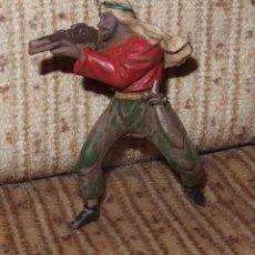 Figuras de Goma y PVC: BEDUINO DISPARANDO,SERIE LAWRENCE DE ARABIA,REAMSA,GOMA,AÑOS 50. Lote 134393778
