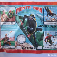 Figuras de Goma y PVC: SOBRE MONTA MAN EXTRA 3 BUZO FIGURA MONTAMAN MONTAPLEX MONTA PLEX CERRADO. Lote 134547246