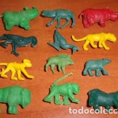 Figuras de Goma y PVC: LOTE DE 12 FIGURAS DE ANIMALES TIPO DUNKIN. Lote 134637818