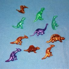 Figuras de Goma y PVC: LOTE DE DINOSAURIOS DUNKIN ORIGINALES AÑOS 70 EN MUY BUEN ESTADO. Lote 134819750