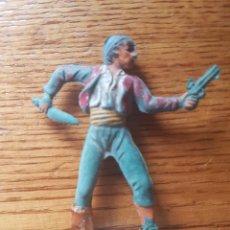 Figuras de Goma y PVC: FIGURA PIRATA CORSARIO O BANDOLERO GOMA PECH HERMANOS AÑOS 50. Lote 134833234