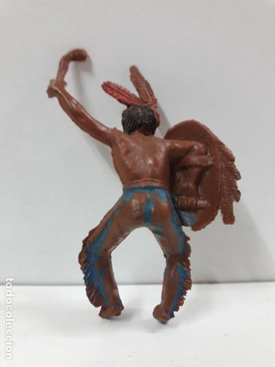 Figuras de Goma y PVC: GUERRERO INDIO PARA CABALLO . REALIZADO POR TEIXIDO . SERIE PEQUEÑA . AÑOS 50 EN GOMA - Foto 2 - 134846522