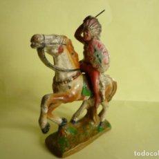 Figuras de Goma y PVC: FIGURA JINETE INDIO EN PASTA TIPO ELASTOLIN. Lote 135067634