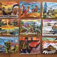 Figuras de Goma y PVC: LOTE MONTAPLEX - 9 SOBRES VARIADOS - CERRADOS CON SU CONTENIDO. Lote 178041580