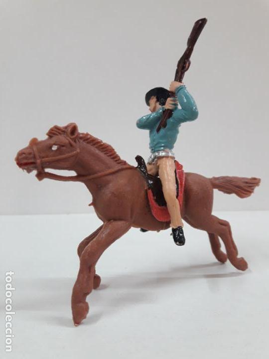 Figuras de Goma y PVC: VAQUERO - COWBOY A CABALLO . REALIZADO POR JECSAN . AÑOS 60 - Foto 2 - 135493798