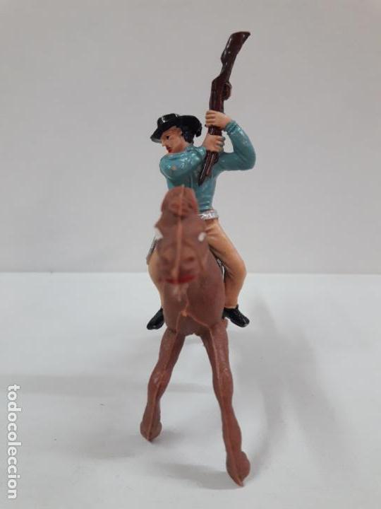 Figuras de Goma y PVC: VAQUERO - COWBOY A CABALLO . REALIZADO POR JECSAN . AÑOS 60 - Foto 3 - 135493798