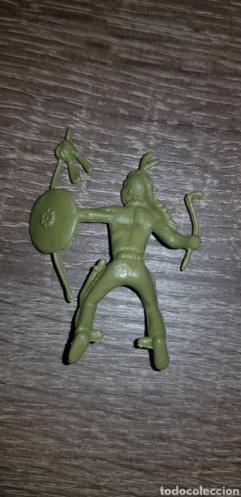 Figuras de Goma y PVC: Antiguo Indio oeste americano años 70/80 plástico duro - Foto 2 - 135504991