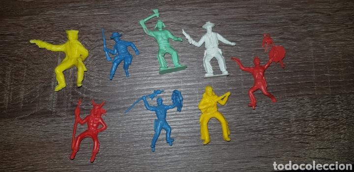 LOTE FIGURAS OESTE INDIOS, AMERICANOS SOLDADOS AÑOS 70/ 80 PLÁSTICO DURO (Juguetes - Figuras de Goma y Pvc - Reamsa y Gomarsa)