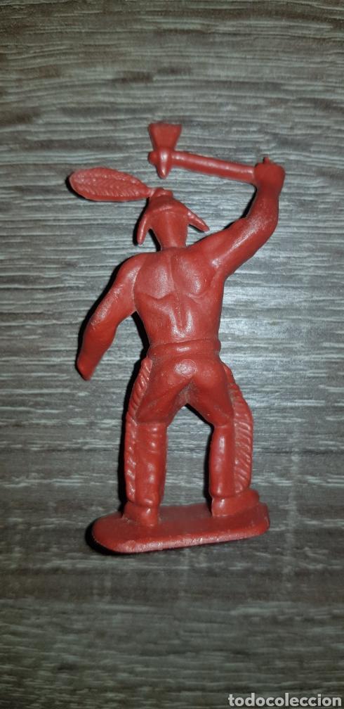 Figuras de Goma y PVC: Figura Indio oeste americano años 70/80 plástico duro - Foto 2 - 135505199