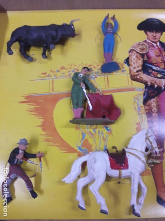 Figuras de Goma y PVC: CAJA ORIGINAL DE LA CORRIDA DE TOROS . REALIZADA POR PECH . AÑOS 60 - Foto 4 - 135518578