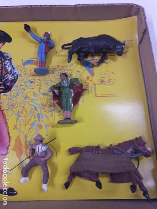 Figuras de Goma y PVC: CAJA ORIGINAL DE LA CORRIDA DE TOROS . REALIZADA POR PECH . AÑOS 60 - Foto 5 - 135518578