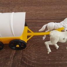 Figuras de Goma y PVC: ANTIGUA CARRETA CARRUAJE OESTE AMERICANO KIOSKO AÑOS 70/80. Lote 135549478