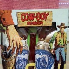 Figuras de Goma y PVC: CARTUCHERAS Y REVOLVER COW-BOY JUGUETES YELU KIOSCO SÑOS 80. Lote 135566990