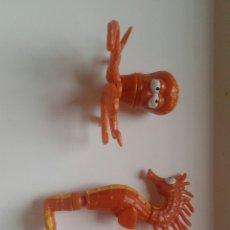 Figuras de Goma y PVC: LOTE CRAZY PLANET 3 FIGURAS, ESTRELLA, PULPO Y CABALLITO DE MAR. Lote 135820585