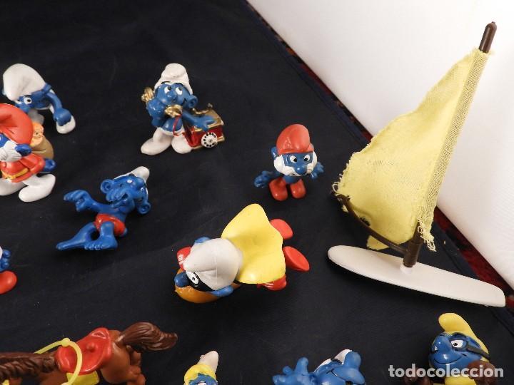 Figuras de Goma y PVC: CONJUNTO DE FIGURAS Y OBJETOS DE PITUFOS MAS LA CASA SCHTROUMPFETTE - Foto 4 - 136035422