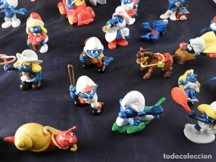 Figuras de Goma y PVC: CONJUNTO DE FIGURAS Y OBJETOS DE PITUFOS MAS LA CASA SCHTROUMPFETTE - Foto 8 - 136035422