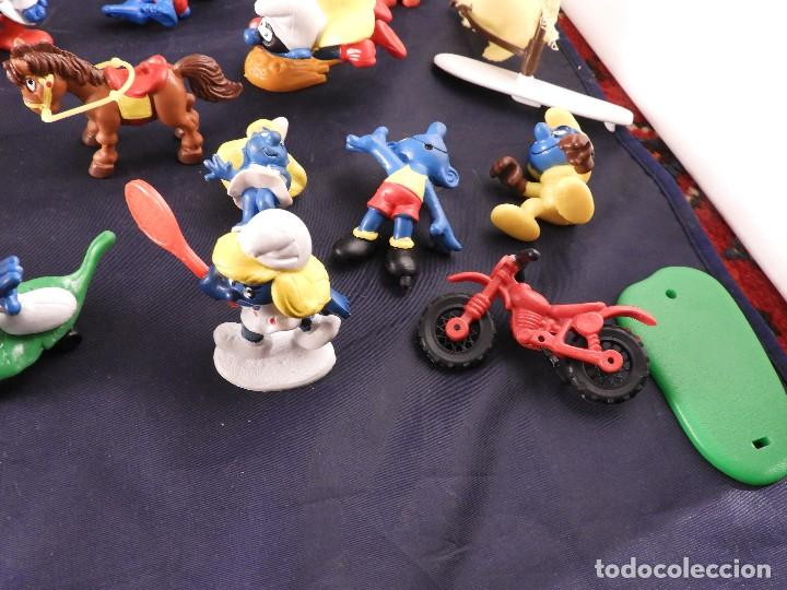 Figuras de Goma y PVC: CONJUNTO DE FIGURAS Y OBJETOS DE PITUFOS MAS LA CASA SCHTROUMPFETTE - Foto 9 - 136035422