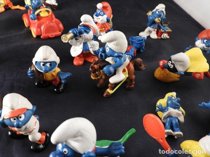 Figuras de Goma y PVC: CONJUNTO DE FIGURAS Y OBJETOS DE PITUFOS MAS LA CASA SCHTROUMPFETTE - Foto 10 - 136035422