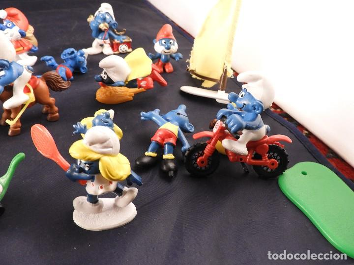 Figuras de Goma y PVC: CONJUNTO DE FIGURAS Y OBJETOS DE PITUFOS MAS LA CASA SCHTROUMPFETTE - Foto 11 - 136035422