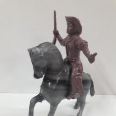 Figuras de Goma y PVC: VAQUERO - COWBOY A CABALLO . REALIZADO EN PLASTICO INFLADO . JUGUETE KIOSKO AÑOS 60 / 70. Lote 136177838