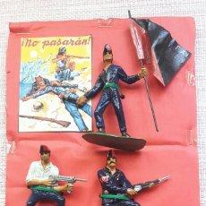 Figuras de Goma y PVC: LOTE 5 COMANSI TUNEADOS ANARQUISTAS GUERRA CIVIL ESPAÑOLA. Lote 136248624