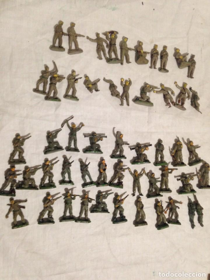 JECSAN, LOTE DE 52 SOLDADOS AMERICANOS Y JAPONESES. PEQUEÑOS. (Juguetes - Figuras de Goma y Pvc - Jecsan)
