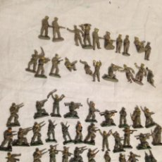 Figuras de Goma y PVC: JECSAN, LOTE DE 52 SOLDADOS DE GOMA, AMERICANOS Y JAPONESES. PEQUEÑOS.. Lote 136289218