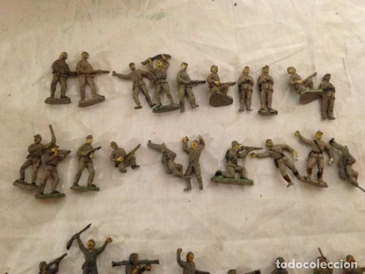 Figuras de Goma y PVC: JECSAN, LOTE DE 52 SOLDADOS AMERICANOS Y JAPONESES. PEQUEÑOS. - Foto 3 - 136289218