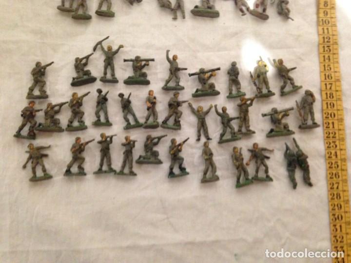 Figuras de Goma y PVC: JECSAN, LOTE DE 52 SOLDADOS AMERICANOS Y JAPONESES. PEQUEÑOS. - Foto 4 - 136289218