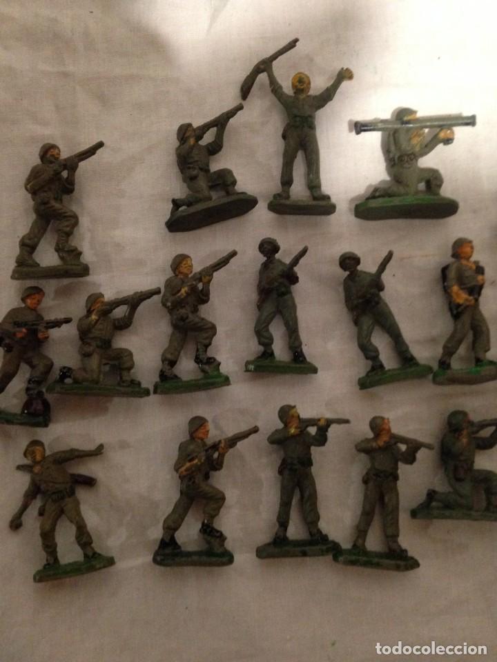 Figuras de Goma y PVC: JECSAN, LOTE DE 52 SOLDADOS AMERICANOS Y JAPONESES. PEQUEÑOS. - Foto 5 - 136289218