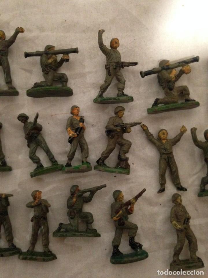 Figuras de Goma y PVC: JECSAN, LOTE DE 52 SOLDADOS AMERICANOS Y JAPONESES. PEQUEÑOS. - Foto 6 - 136289218