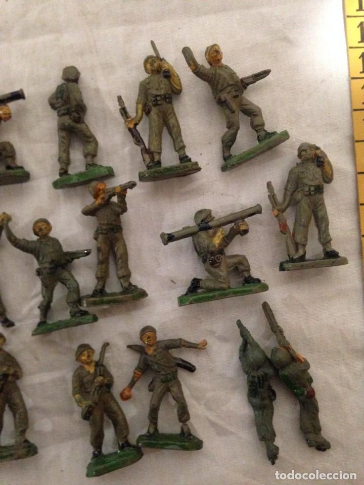 Figuras de Goma y PVC: JECSAN, LOTE DE 52 SOLDADOS AMERICANOS Y JAPONESES. PEQUEÑOS. - Foto 7 - 136289218