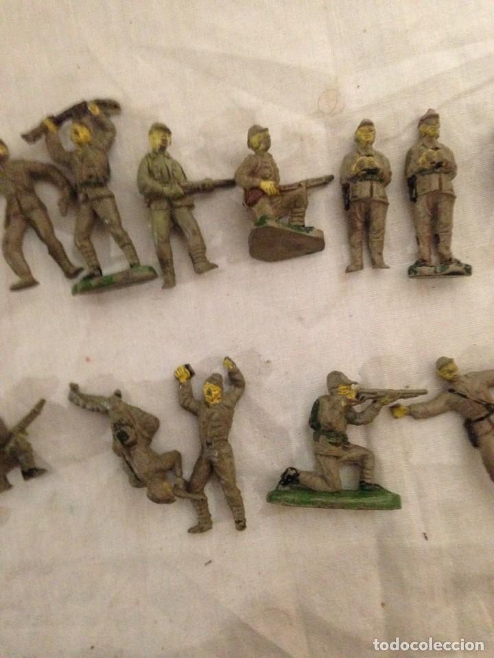 Figuras de Goma y PVC: JECSAN, LOTE DE 52 SOLDADOS AMERICANOS Y JAPONESES. PEQUEÑOS. - Foto 9 - 136289218