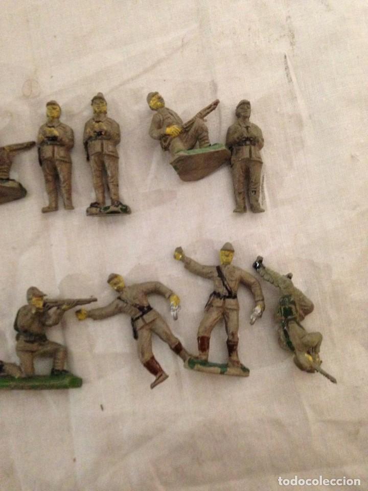 Figuras de Goma y PVC: JECSAN, LOTE DE 52 SOLDADOS AMERICANOS Y JAPONESES. PEQUEÑOS. - Foto 10 - 136289218