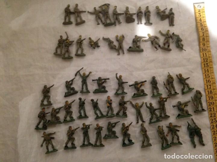 Figuras de Goma y PVC: JECSAN, LOTE DE 52 SOLDADOS AMERICANOS Y JAPONESES. PEQUEÑOS. - Foto 11 - 136289218