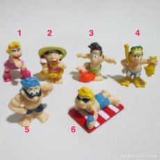Figuras Kinder: LEER* * MUÑECOS EXTRA KINDER FIGURAS PLAYEROS PLAYA FIGURAS FIGURITAS BEACH. Lote 136366074