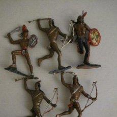 Figuras de Goma y PVC: INDIOS - LOTE 5 FIGURAS GRANDES -VER FOTOS -(V-15.050). Lote 136512658
