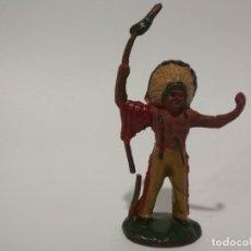 Figuras de Goma y PVC: FIGURA INDIO EN GOMA AÑOS 50. Lote 136843938