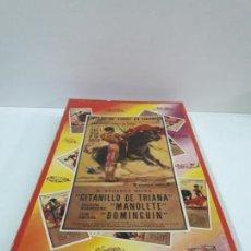 Figuras de Goma y PVC: CAJA ORIGINAL DE LA CORRIDA DE TOROS - COLECCION DE FIGURAS TAURINAS . REALIZADA POR PECH . AÑOS 60. Lote 137130886