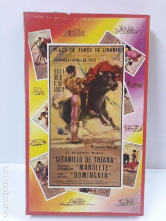 Figuras de Goma y PVC: CAJA ORIGINAL DE LA CORRIDA DE TOROS - COLECCION DE FIGURAS TAURINAS . REALIZADA POR PECH . AÑOS 60 - Foto 2 - 137130886