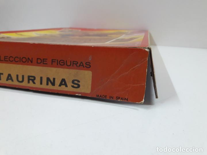 Figuras de Goma y PVC: CAJA ORIGINAL DE LA CORRIDA DE TOROS - COLECCION DE FIGURAS TAURINAS . REALIZADA POR PECH . AÑOS 60 - Foto 5 - 137130886