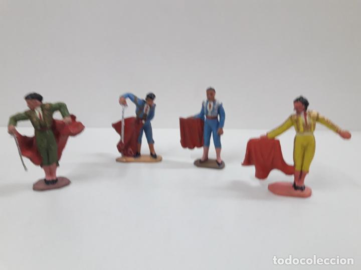 Figuras de Goma y PVC: CAJA ORIGINAL DE LA CORRIDA DE TOROS - COLECCION DE FIGURAS TAURINAS . REALIZADA POR PECH . AÑOS 60 - Foto 22 - 137130886