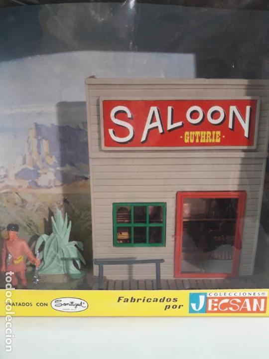 Figuras de Goma y PVC: SALOON . JECSARAMAS DEL OESTE - REF 207 . REALIZADA POR JECSAN . AÑOS 60 / 70 - Foto 7 - 137215618