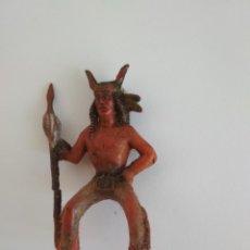Figuras de Goma y PVC: FIGURA JINETE INDIO REAMSA GOMA. Lote 137280970